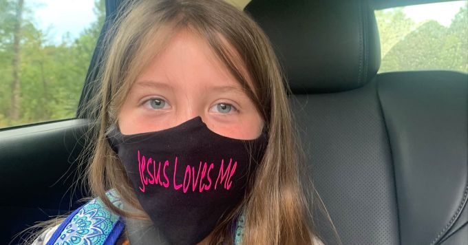 Jesus Loves Me Face Mask Alliance Defending Freedom